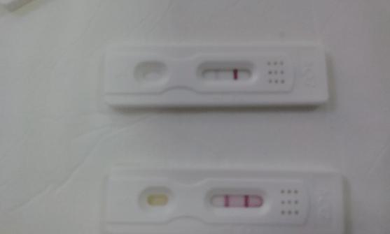 positivo débil en test de embarazo