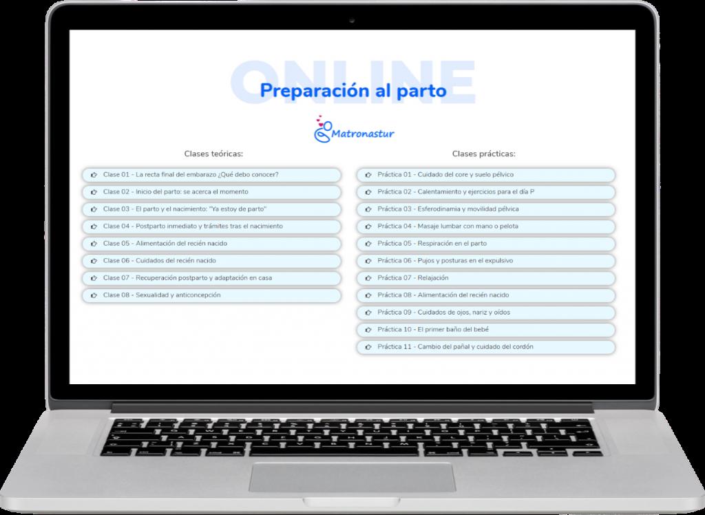 🤰 Curso de preparación al parto online - Matronastur 1