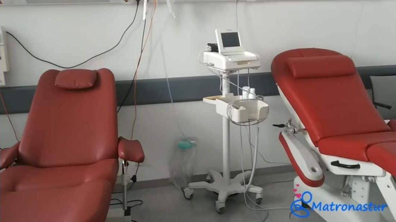 sillones de monitores del HUCA